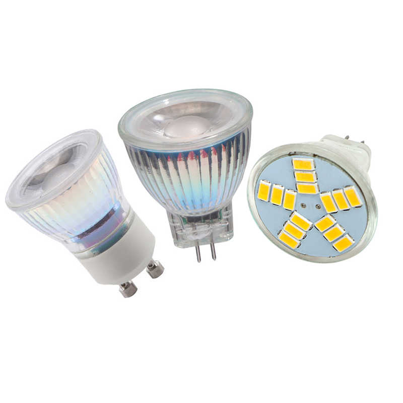 Dimmable 5W LED GU10 MR11 COB LED Bulb light AC/DC12V AC110V 220V 35mm Diameter COB MR11 LED SpotLight Warm/Cold White Bulb Lamp