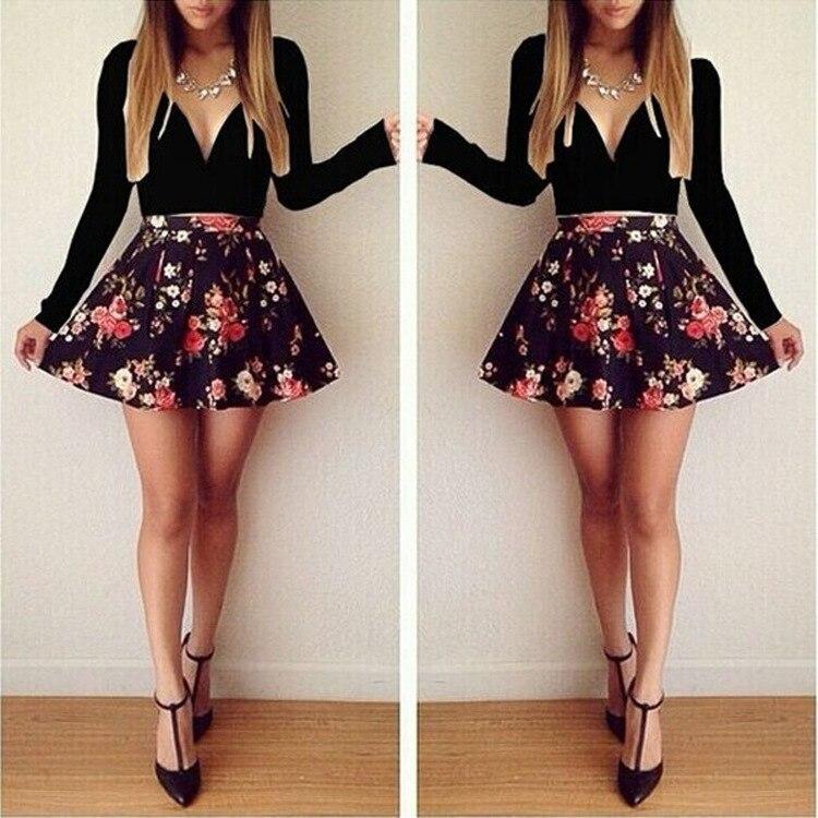 HTB1TNT5HVXXXXbAXpXXq6xXFXXXu - FREE SHIPPING Women Long Sleeve Floral Mini Dress JKP202