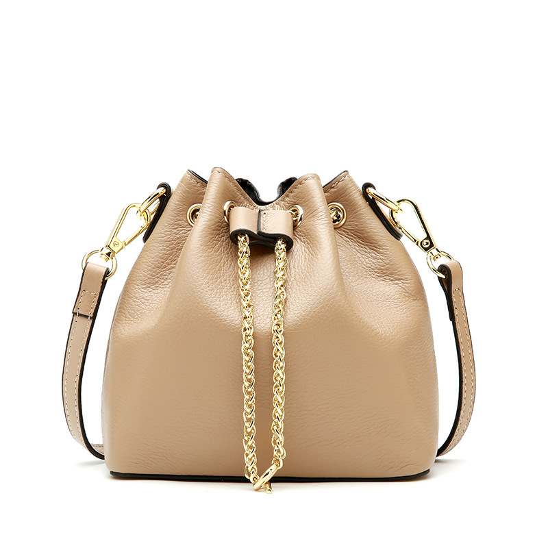 Women Brand Bucket Bag Fashion Girls Shoulder Bag All-match Luxury Genuine Leather Female Crossbody Bag for Teenage Girls Bags 2017 new fashion women canvas handbags casual beach woman bags female shoulder bag crossbody bag book bags for teenage girls