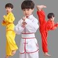 3C Alta calidad del algodón de los niños ropa ropa de artes marciales Kung Fu Chino de Satén Mate de Wushu tai chi uniformes niños paño