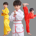 3C High quality cotton children's martial arts clothing Chinese Kung Fu Matte Satin clothing Wushu uniforms kids tai chi cloth