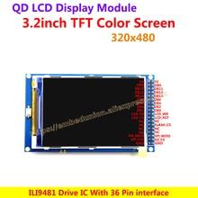 3.2 Inch 320*480 TFT Color Screen Ultra HD LCD Module Display panel ILI9481 Drive IC 36 Pin interface