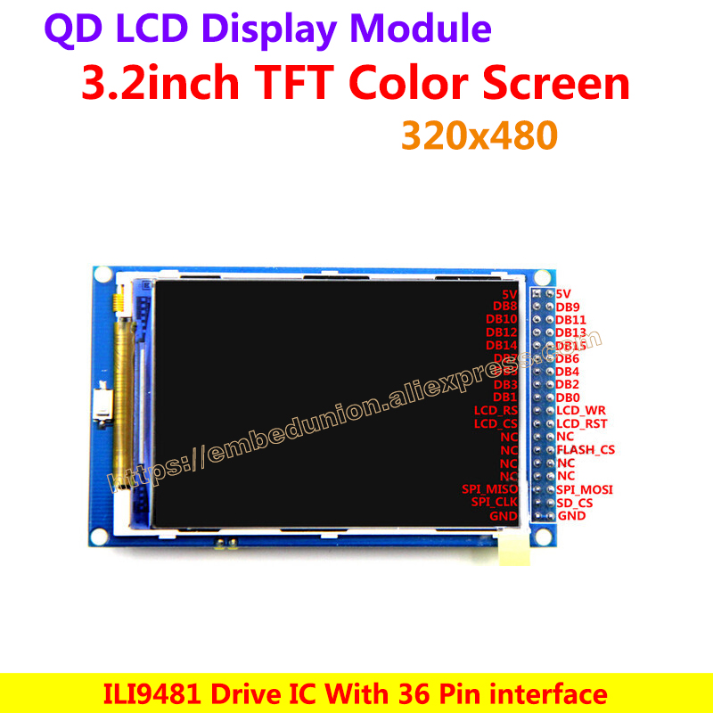 3 2 Inch 320 480 TFT Color Screen Ultra HD LCD Module Display panel ILI9481 font