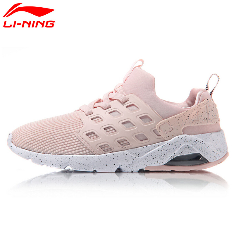 Li-Ning Women's Bubble Ace Streetwear Walking Shoes Mono Yarn Cushion Breathable LiNing Sneakers Sports Shoes AGLM022 YXB066 original li ning men professional basketball shoes