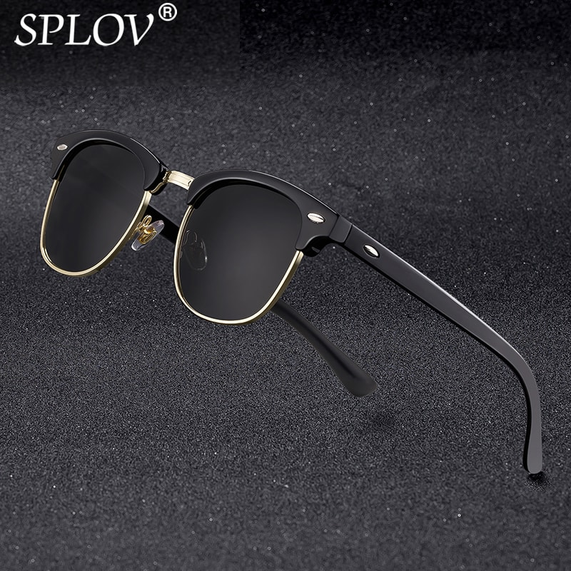 2018 New Fashion  Semi Rimless Polarized Sunglasses Men Women Brand Designer Half Frame Sun Glasses Classic Oculos De Sol UV400(China)