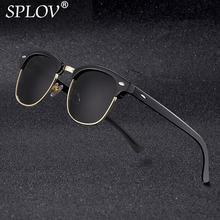 Новые модные поляризационные солнцезащитные очки без оправы для мужчин и женщин, брендовые дизайнерские солнцезащитные очки с полуоправой, классические солнцезащитные очки UV400