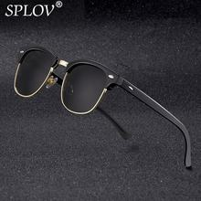 4e13737a9ac6 2018 New Fashion Semi Rimless Polarized Sunglasses Men Women Brand Designer  Half Frame Sun Glasses Classic