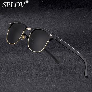 New Fashion  Semi Rimless Polarized Sunglasses Men Women Brand Designer Half Frame Sun Glasses Classic Oculos De Sol UV400 men s sunglasses fashion oversized sunglasses men brand designer goggle sun glasses female style oculos de sol uv400 o2