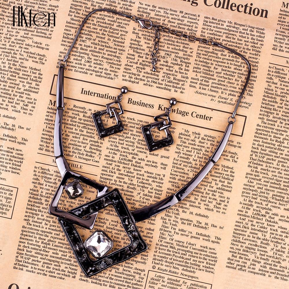 MS1504791 Модные Ювелирные наборы высокое качество колье наборы для женщин ювелирные изделия разноцветные хрустальные смолы уникальный дизайн вечерние Подарочные