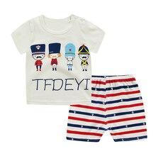 Children Sets Boy Cartoon T-shirts+Shorts Summer Children Clothing Set Cotton Kids Outfits New Style Boys Clothes 40