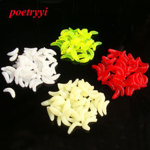 POETRYYI 10pcs/20Pcs/Lot 2.1cm 0.5g Fishing lure bait Worms mushy Artificial Rubber odor Delicate bait carp bait 30