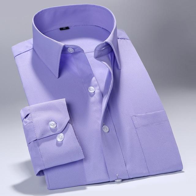 MACROSEA 2017 Men Work/Office Wear Clothes Brand Long Sleeve Formal Men Dress Shirts Men Social shirts Slim Fit Design 2