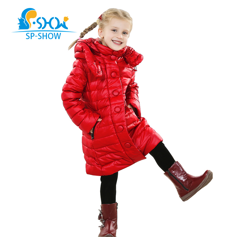 Kids Down Coats 2018 Winter down jacket Coat Thicker Warm Jacket New Fashion For Big Children Girl Winter Jacket Luxury Brand цена 2017