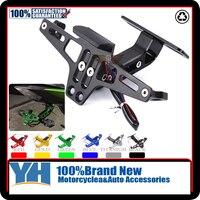 Motorcycle Adjustable Angle Aluminum License Number Plate Frame Holder Bracket For YAMAHA YZF R1 R3 R6