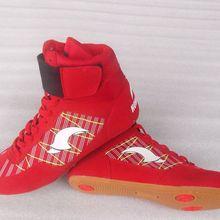 Для мужчин Для женщин туфли для Реслинга; боксерское снаряжение спортивная Тяжелая атлетика ботинки пауэрлифтинга тренировка, бой спортивные кроссовки размер 36-45