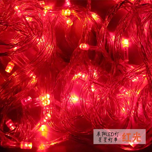 100 luzes da corda LED lâmpadas economizadoras de energia lâmpadas de iluminação vermelho Multi Cor à prova d' água para o Natal ao ar livre luzes de decoração