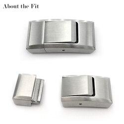 4mm x 12mm 316L conectores de acero inoxidable extremo brazalete de collar con broche hallazgos hebillas artesanales gancho cierre a presión sobre el ajuste