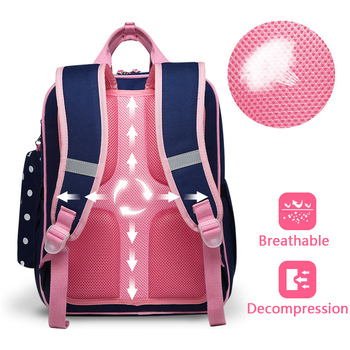 Polka Dot Girl School Backpack Bag for Girls Children Kids 3