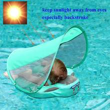 UPF 30 Mambo baby swim float swimming ring UV-protection baby floating with canopy no need Inflatable neck Floats Swim Trainer(China)