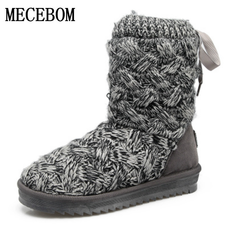 Women Snow Boots With Round Toe Flat Shoes Winter 2018 Split Female Warm Leather Ankle Boots For Women footwear BA1W wdzkn winter snow boots female short tube warm boots lace up round toe flat heel ankle boots for women winter shoes plus size 42
