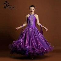 Modern Ballroom Competition Dress Standard Waltz Tango Handmade Dance Dress