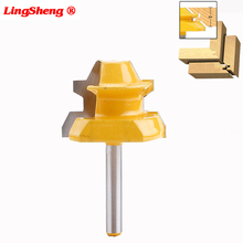 цена на 8mm Shank Lock Miter Router Bit Anti-kickback 45 Degree 1/2 3/4 Inch Stock Tenon Cutter for Woodworking Tools
