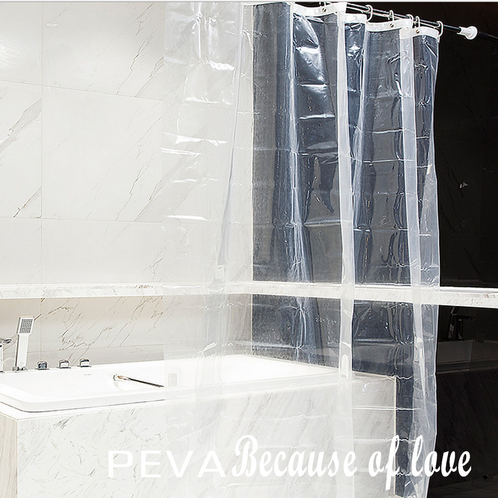 bath shower curtain liner clear non toxic mold resistant waterproof bathroom transparent shower. Black Bedroom Furniture Sets. Home Design Ideas