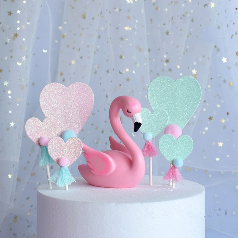 3pcspack new birthday pink love cake plug card cake