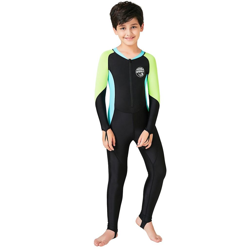 Perimedes Neoprene Kids Wetsuit Long Sleeves Wetsuit Snorkeling Jumpsuit Short Sleeve Diving Suit One-piece Swimwear#g35