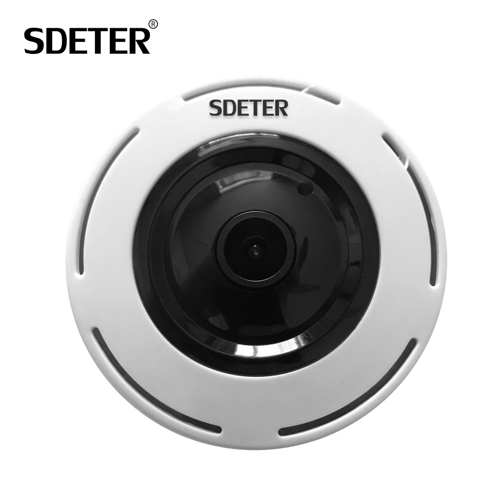 SDETER HD 960P Wireless IP Camera Wi-fi 360 Degree Home Alarm Mini Camera Fisheye Panoramic IR Night Vision Surveillance Camera mini hd 360 degree fisheye panoramic analog high definition surveillance camera module security indoor ir night vision