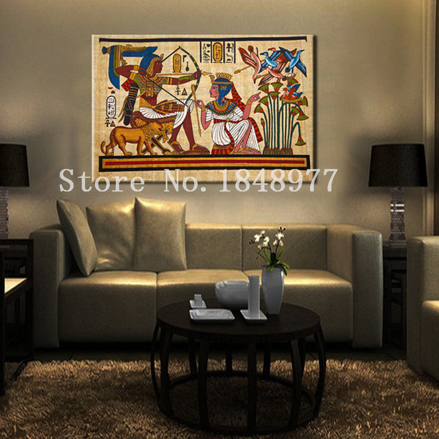 Superieur Modern Abstract Egyptian Decor Canvas Art Oil Painting Wall Pictures For Living  Room Decoration Pictures