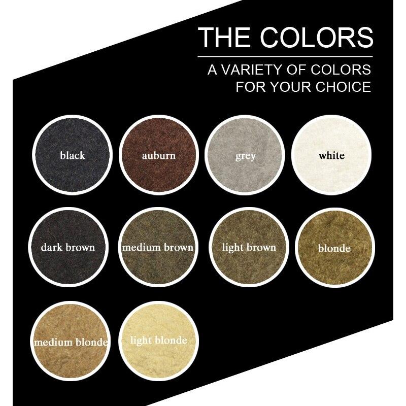 1000g cosmético hecho a mano de fibra de cabello humano, Corrector de pérdida de cabello, colorante de estilo, fibra de Color, aplicador para polvos de pelo, bolsa de recarga - 4