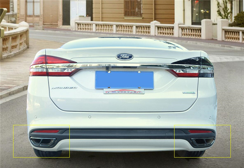 For Ford Fusion Mondeo 2013-2018 Blue Stainless Rearview Mirror Decorative Trim