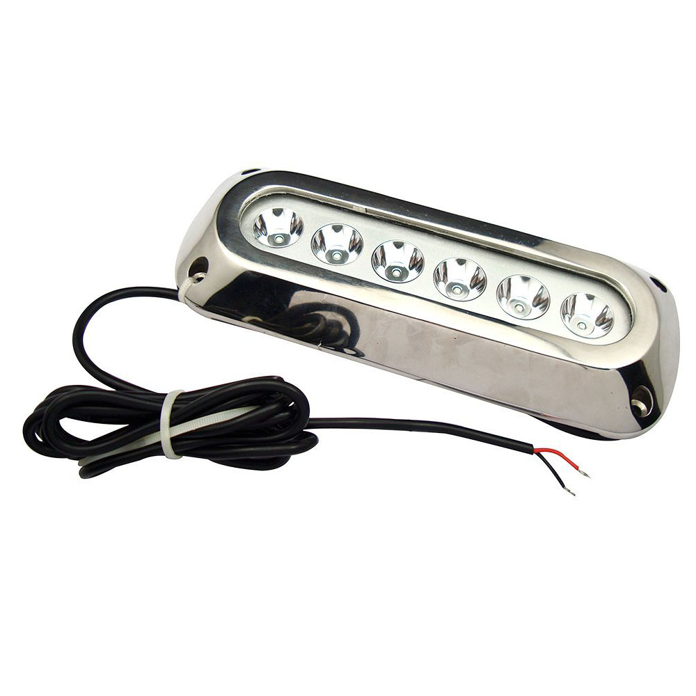 18w Blue Stainless Steel IP68 Waterproof LED Marine Underwater Light Boat Yacht light цена