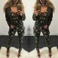 2017 Весна Осень Женская Мода Sexy Глубокий V Шеи Criss Cross кружева Топы Тис Леди Длинным Рукавом Причинная Тонкий Повязку Рубашки Femme