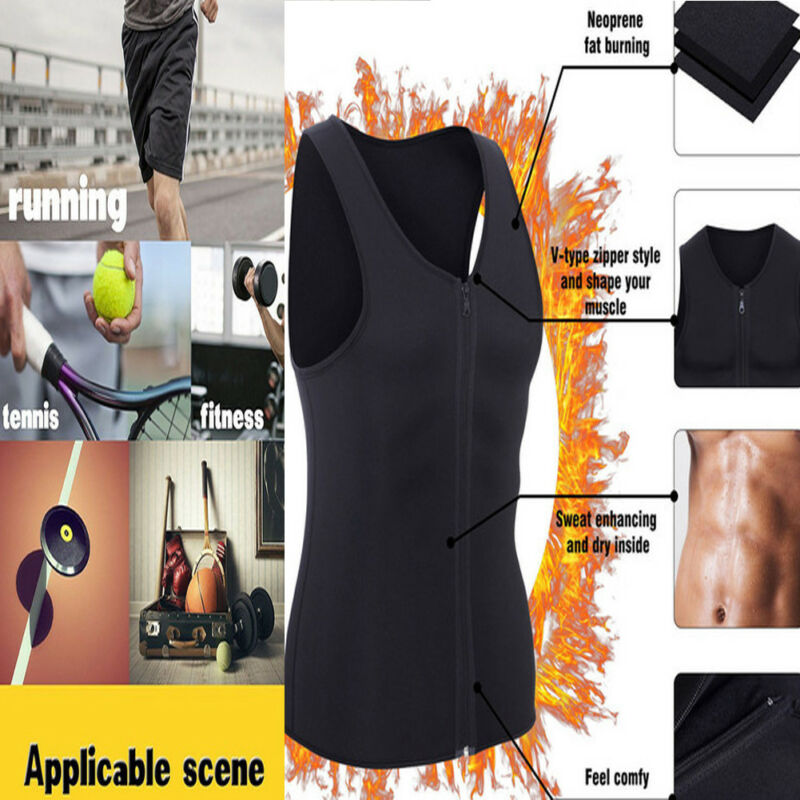 Men's Compression Slimming Best Shapewear T Shirt Vest For Waist Chest Shaper Cummerbunds