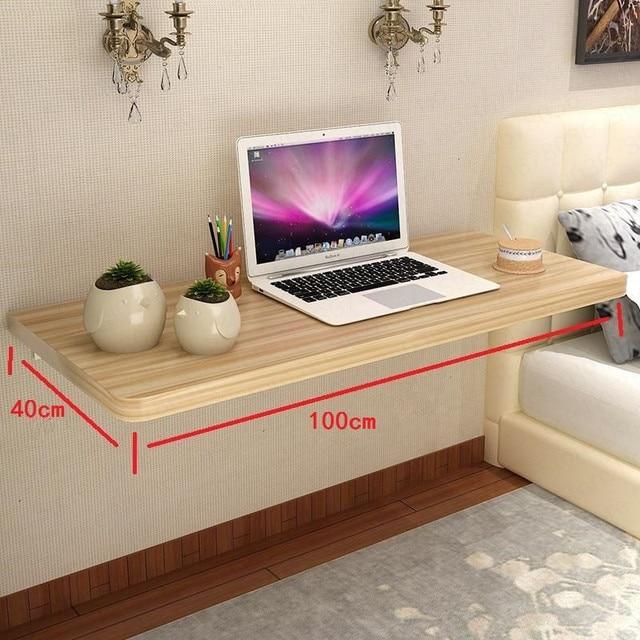 Hiçbir ev basit duvar masa katlanır masa yemek asılı bilgisayar masaüstü bilgisayar masası Escritorio Mesa Dobravel