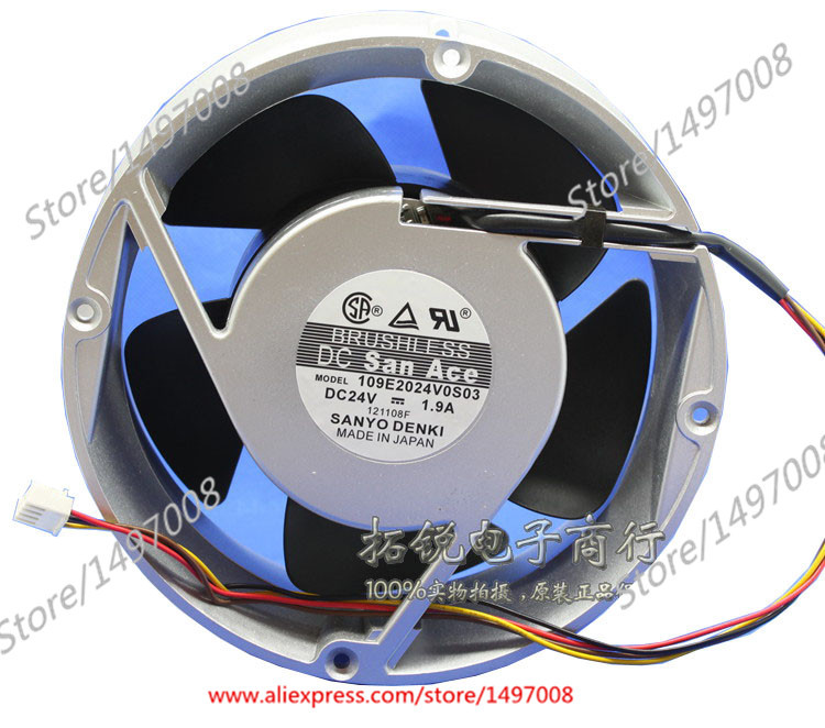 Sanyo 109E2024V0S03 DC 24V 1.9A 170mm, 200x200x70mm Server Round fan