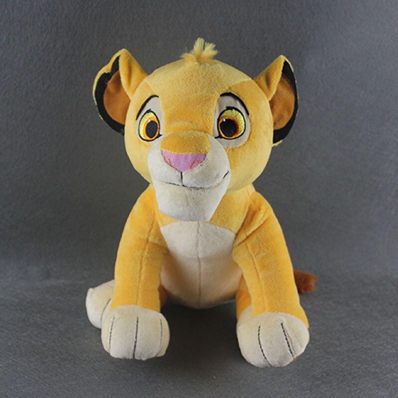 10 высокий сидя Simba милый Король Лев плюшевые игрушки, simba мягкая чучело мультфильм модель куклы для подарок для ребенка