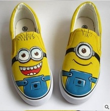 Despicable Me Cartoon Minion Cartoon Children Unisex Hand Painted Casual kids baby Shoes Boys Girls Figure Flat Shoes cheap casual shoes Canvas Cotton Fabric season sponge mice geometric Massage Slip-On Rubber Fits true to size take your normal size