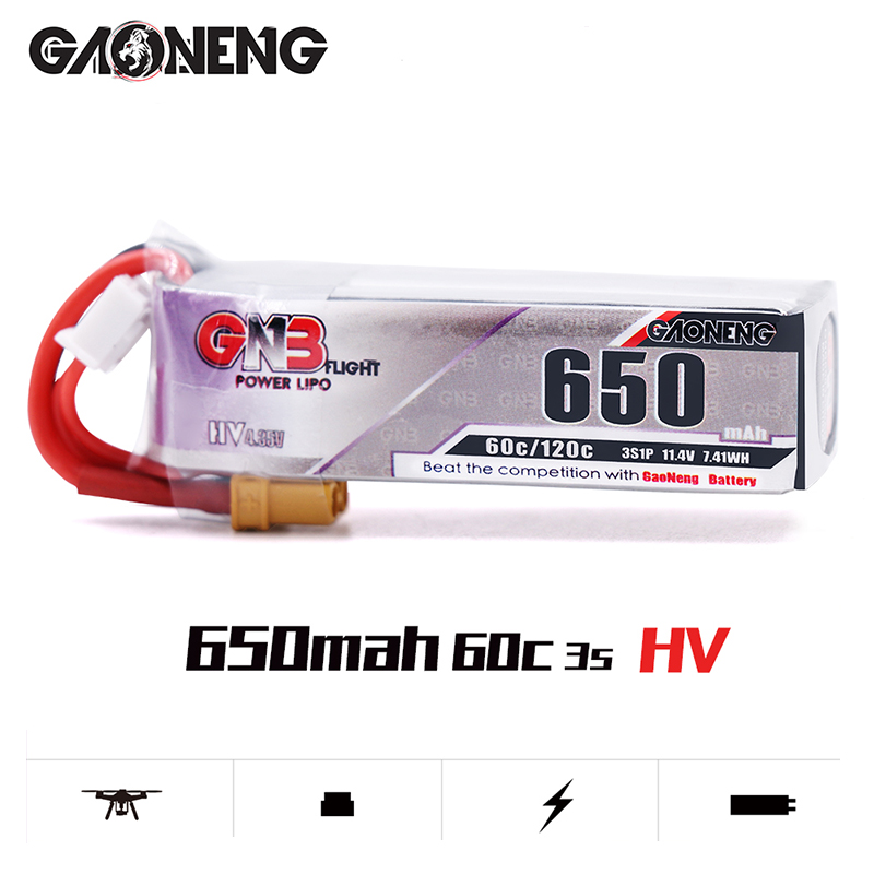 Image 4 - 5PCS Lipo Battery Gaoneng GNB HV 650mAh 60C 1s 2s 3s 4s HV With PH2.0 XT30 Plug For Emax Tinyhawk Kingkong LDARC TINY-in Parts & Accessories from Toys & Hobbies