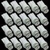 CQD-Light 20pcs T10 1 LED Car Indicator Light Bulbs Wedge Lamp T10 1LED Concave 12V White Parking signal