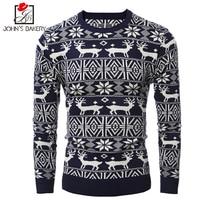 John S Bakery Brand 2017 New Fashion Autumn Casual Sweater O Neck Christmas Elk Slim Fit