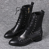 85c7a5b0 Boots Children 2018 Autumn And Winter New Rivets Women S Boots Europe And  The United States. Botas niños 2018 Otoño e Invierno ...