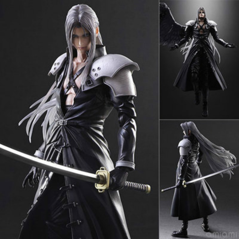 Final Fantasy VII Sephiroth collectors action figure toys Christmas gift doll  28cm new hot 22cm final fantasy gabranth collectors action figure toys christmas gift doll