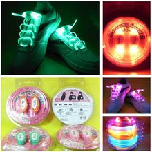 Cool Fashion Light up LED Shoelaces Flash Party Skating Glowing Shoe Laces for Boys Girls 2016 HOT Fashion Luminous Shoe Strings