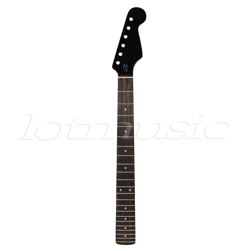 Kmise Electric Guitar Neck 22 Frets Rosewood Fretboard for Electric Guitar Replacement Parts Matt Black цена и фото