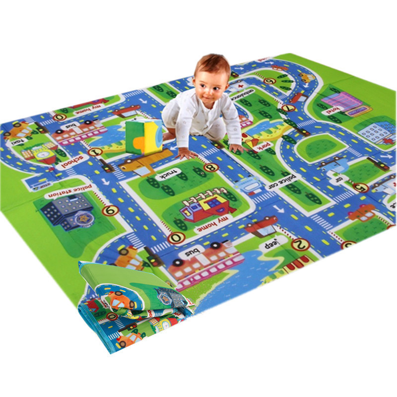 Mambobaby City Road Carpets For Children Play Mat Carpet Baby Toys Rugs Developing Play Puzzle Foam Mat Mats 130*160cm Hot Sale