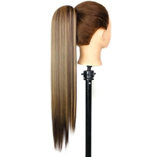 """Luxury for Braiding 24"""" 150g Mixed Color High Temperature Fiber Claw Clip Drawstring Ponytail Synthetic Hair Pieces Extensions"""