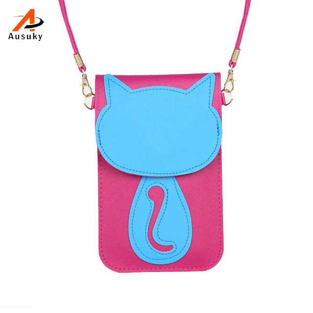 7deb7a6687e9 Cat Women Messenger Bags Small Female PU PVC Shoulder Bags Ladies Mini Purse  and Handbags